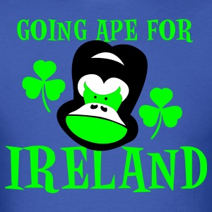 Royal blue going ape for ireland gorilla face St Patricks Day Tribute T-Shirts - Men's T-Shirt