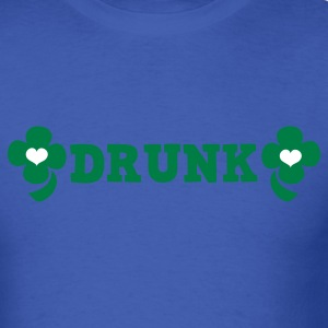 Royal blue drunk with irish four leaf clover T-Shirts - Men's T-Shirt