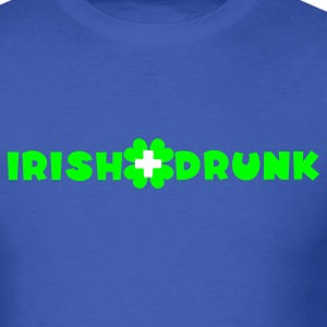 Royal blue Irish and drunk St Patricks Day with clover T-Shirts - Men's T-Shirt