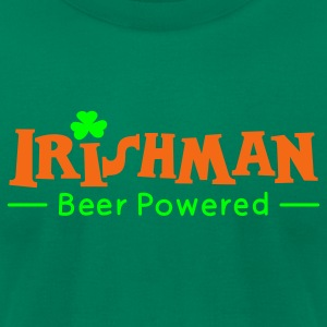 Kelly green Beer Powered Irish Man T-Shirts - Men's T-Shirt by American Apparel