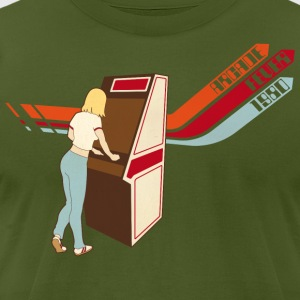 Olive Arcade Fever 1980 T-Shirts - Men's T-Shirt by American Apparel