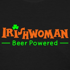 Black Beer Powered Irish Woman Women's T-Shirts - Women's T-Shirt