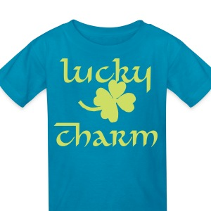 Kelly green 4 leaf clover Kids' Shirts - Kids' T-Shirt