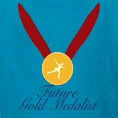 Classic pink future_gold_medalist figure skating Kids' Shirts