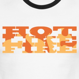 Red/white Hot Like Fire T-Shirts - Men's Ringer T-Shirt