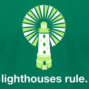 Lighthouses Rule. - Men's T-Shirt by American Apparel