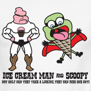 White/black Ice Cream Man & Scoopy T-Shirts - Men's Ringer T-Shirt
