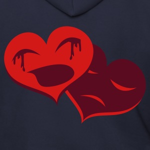 Ash  heart crying hearts broken Zip Hoodies/Jackets - Men's Zip Hoodie