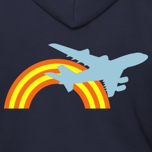 Ash  jet plane flying over the rainbow Zip Hoodies/Jackets - Men's Zip Hoodie