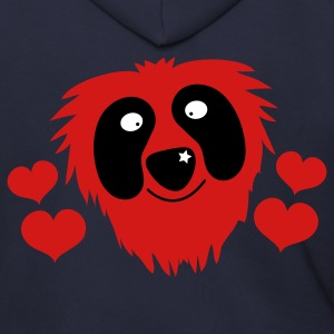 Ash  funny red grover like monster with love hearts Zip Hoodies/Jackets - Men's Zip Hoodie