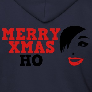 Ash  merry xmas ho comedy insult Christmas shirt Zip Hoodies/Jackets - Men's Zip Hoodie