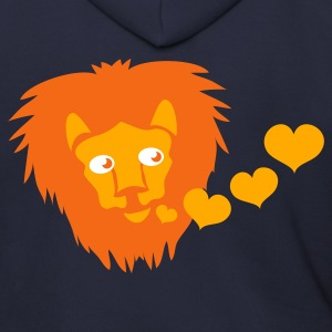 Ash  friendly lion and love heart kisses so CUTE ! Zip Hoodies/Jackets - Men's Zip Hoodie