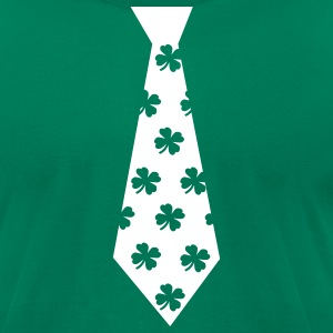 Kelly green Clover Tie T-Shirts - Men's T-Shirt by American Apparel