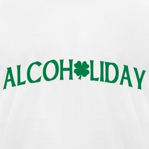 White Alcoholiday T-Shirts - Men's T-Shirt by American Apparel