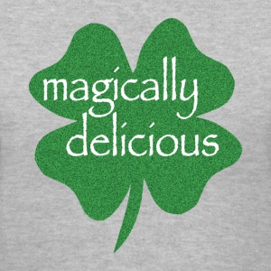 Gray magically delicious Women's T-Shirts - Women's V-Neck T-Shirt
