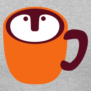 Gray cool owl shapes coffee cup ? Women's T-Shirts - Women's V-Neck T-Shirt