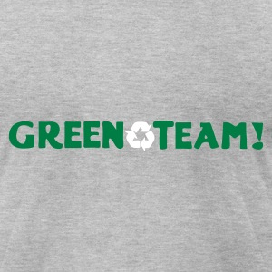 Heather grey Green Team Vector T-Shirts - Men's T-Shirt by American Apparel