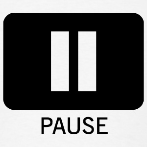 Pause Music 1c - Men's T-Shirt