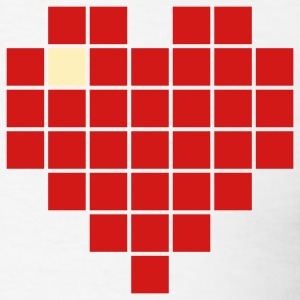 Pixel Heart 2c - Men's T-Shirt