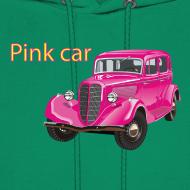 Design ~ Pink car hoodie