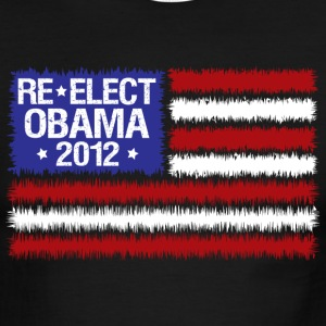 Sky/navy reelect obama 2012  T-Shirts - Men's Ringer T-Shirt