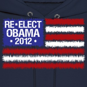 Navy reelect obama 2012  Hoodies - Men's Hoodie