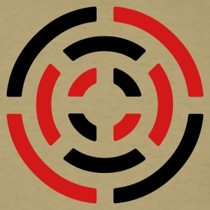 Khaki circle sign T-Shirts - Men's T-Shirt