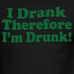 I Drank Therefore I'm Drunk T-Shirts - Men's Ringer T-Shirt