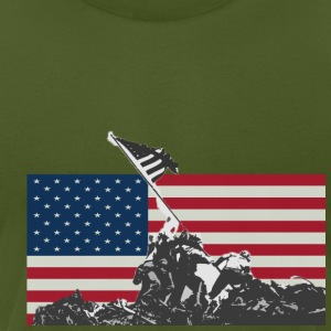 Olive flag soldiers T-Shirts - Men's T-Shirt by American Apparel