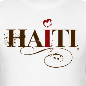 [Women's Plus Size Organic Tee ~ I Love Haiti Shirt - $5 of each purchase goes directly to the relief efforts in Haiti. ~ 890] Women's Plus Size Organic Tee ~ I Love Haiti Shirt - $5 of each purchase goes directly to the relief efforts in Haiti. ~ Front  - Men's T-Shirt