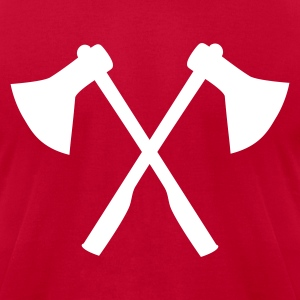 Red Ax - Firefighter T-Shirts - Men's T-Shirt by American Apparel