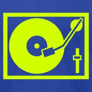 Royal blue DJ - Turntable T-Shirts - Men's T-Shirt by American Apparel