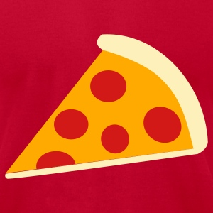 Brown Pizza T-Shirts - Men's T-Shirt by American Apparel