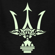 Design ~ GLOW-IN-THE-DARK TRIDENT Kids T-Shirt - Poseidon Tee
