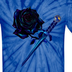 The Black Rose and Dagger - Unisex Tie Dye T-Shirt