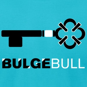 Turquoise bulgebull_medkey T-Shirts - Men's T-Shirt by American Apparel