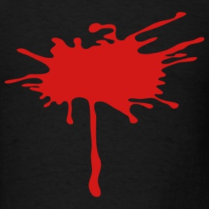 Blood Paint Splatter 1c - Men's T-Shirt