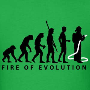 Bright green evolution_feuerwehr_2c T-Shirts - Men's T-Shirt