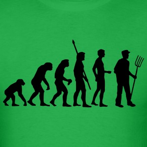 Bright green evolution_bauer_b T-Shirts - Men's T-Shirt