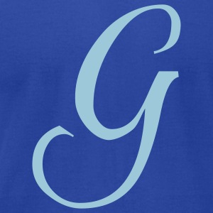 Royal blue G - Letter T-Shirts - Men's T-Shirt by American Apparel