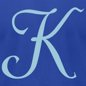 Royal blue K - Letter T-Shirts - Men's T-Shirt by American Apparel