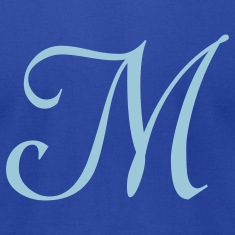 Royal blue M - Letter T-Shirts