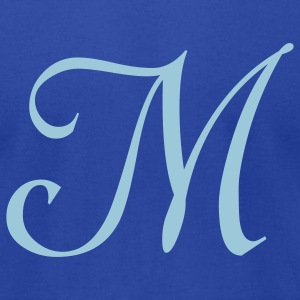 Royal blue M - Letter T-Shirts - Men's T-Shirt by American Apparel