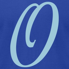 Royal blue O - Letter T-Shirts