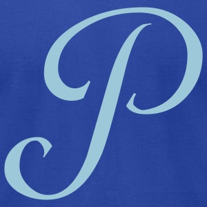 Royal blue P - Letter T-Shirts - Men's T-Shirt by American Apparel