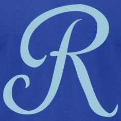 Royal blue R - Letter T-Shirts