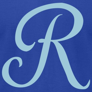 Royal blue R - Letter T-Shirts - Men's T-Shirt by American Apparel