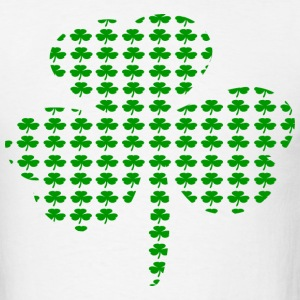 White Tiny Shamrocks In Shape Of A Big Shamrock--DIGITAL DIRECT T-Shirts - Men's T-Shirt