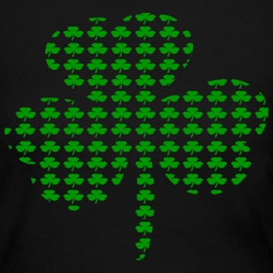 Black Tiny Shamrocks In Shape Of A Big Shamrock--DIGITAL DIRECT Long Sleeve Shirts - Women's Long Sleeve Jersey T-Shirt