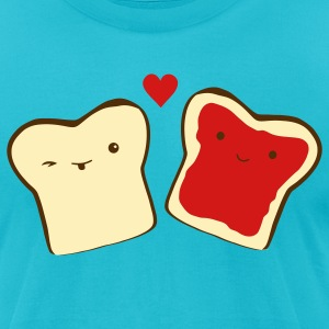 Turquoise toast in love T-Shirts - Men's T-Shirt by American Apparel